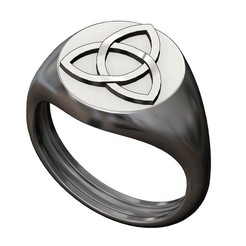 ROUND-S-CELTIC-KNOT-00.JPG Download 3MF file Round Celtic knot signet ring 3D print model • 3D printer template, RachidSW