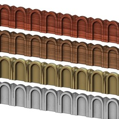 ROMAN-MOLDING-0000.JPG Download 3MF file Roman Fluted linear molding relief and 3D print model • 3D printer model, RachidSW