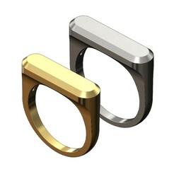 Chamfered-Slot-flat-top-signet-00.JPG Download 3MF file Chamfred flat top signet ring 3D print model • 3D printing design, RachidSW