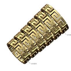 Versace-large-band-v00-00.JPG Download 3MF file Chunky Versace greek key pattern band 3D print model • 3D printer design, RachidSW