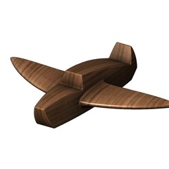 toy-plane-00.JPG Download STL file Wood airplane toy 3D print model • 3D printer design, RachidSW