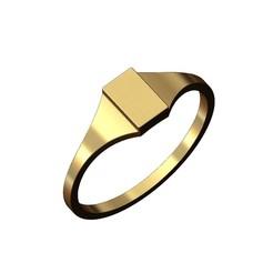Rectangular signet ring-00.JPG Télécharger fichier 3MF Modèle d'impression 3D de la chevalière rectangulaire gravable • Design pour imprimante 3D, RachidSW