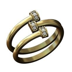HELIX-DRUM-DIAMOND-RING-00.JPG Download 3MF file Diamond helix and drum ring 3D print model • 3D printer design, RachidSW