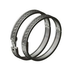 Greek-key-bracelet-000.JPG Download 3MF file Simple Greek key pattern bracelet 3D print model • 3D print template, RachidSW