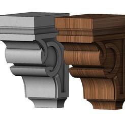 Download 3D printer model Simple celtic corbel bracket 3D print model, RachidSW