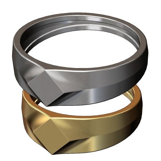 SQUARE-SIGNET-01.JPG Download 3MF file Simple quadrangle flat top signet ring 3D print model • 3D printable model, RachidSW
