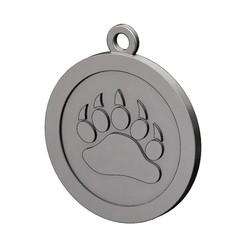 bear-paw-pendant-00.JPG Télécharger fichier 3MF Modèle d'impression 3D d'un pendentif de patte d'ours • Objet pour imprimante 3D, RachidSW