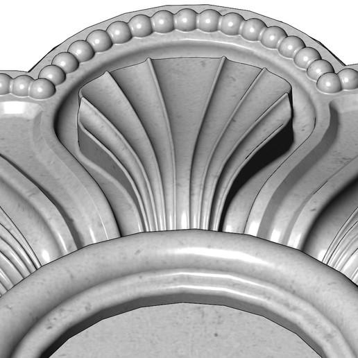 rosette5-1-09.JPG Download 3MF file Rosette plaster molding N01 3D print model • 3D printable model, RachidSW