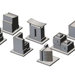 Download 3D model Miniature modern buildings 3d print models, RachidSW