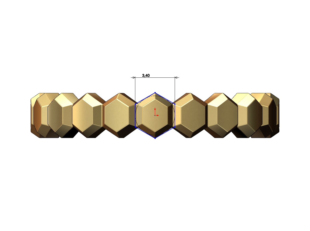Hex-faceted-band-05.JPG Download 3MF file Hexagonal Faceted norrow band 3D print model • Model to 3D print, RachidSW