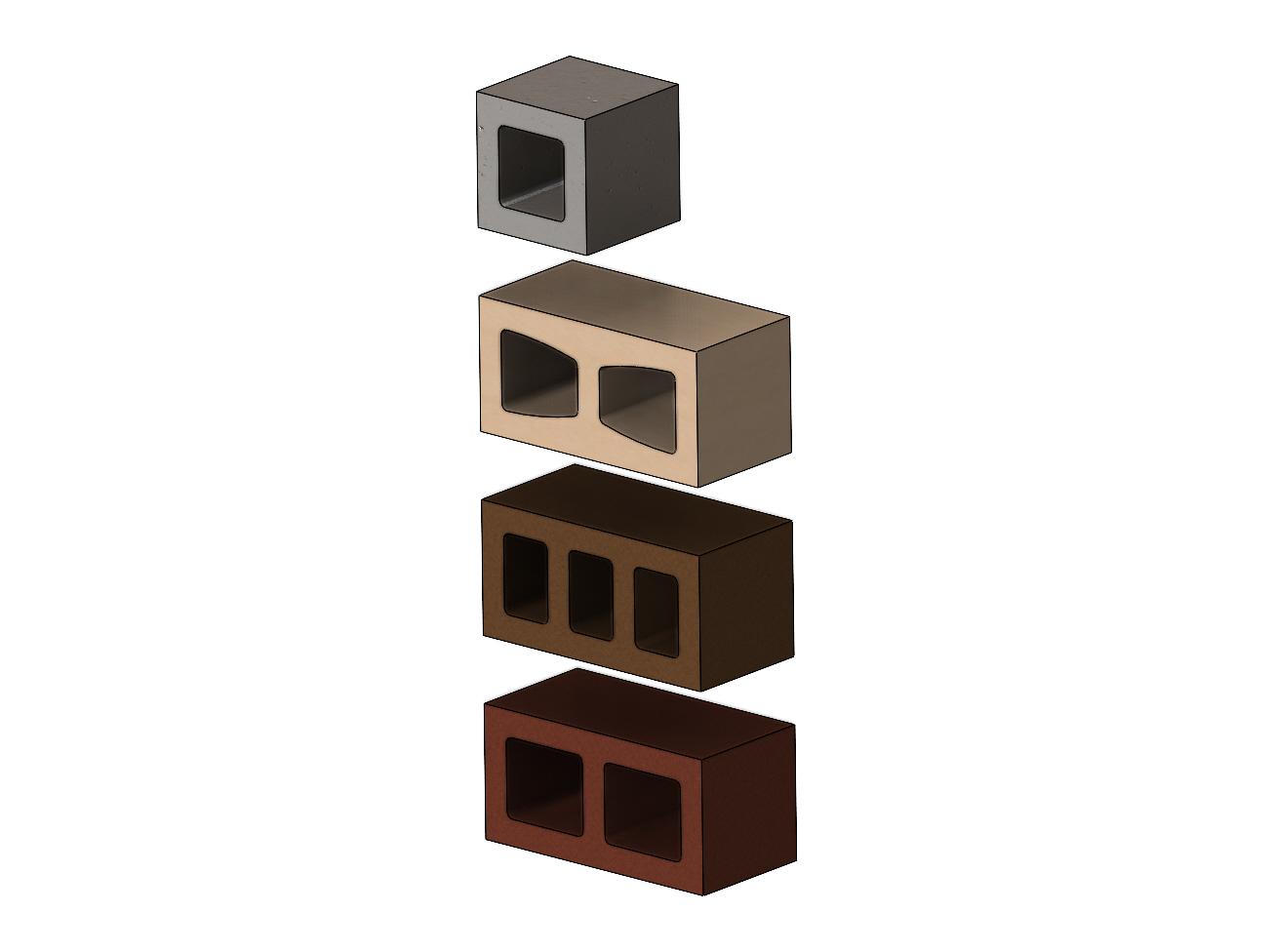 cinder-blocks-00.JPG Télécharger fichier 3MF gratuit Maquette de blocs de cendres miniatures accessoires modèle d'impression 3D • Plan à imprimer en 3D, RachidSW