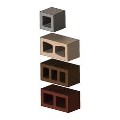 Download free 3D printing designs Miniature cinder blocks mockup props 3D print model, RachidSW