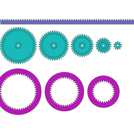 M1-GEAR-SET-00.JPG Download 3MF file Mini Spur Gears Metric Set 3D print model • 3D printing model, RachidSW