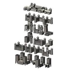 Download 3D model Medieval modular building miniature props 3D print model, RachidSW