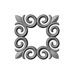 onlay19-000.JPG Download 3MF file Square floral decoration element relief 3D print model • 3D print object, RachidSW