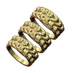 Keeper-ring-v2-00.JPG Télécharger fichier 3MF Modèle d'impression 3D de l'anneau de garde à double rangée • Objet imprimable en 3D, RachidSW