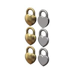 heart-lock-00.JPG Télécharger fichier 3MF Modèle de pendentif en forme de coeur, de charme et d'ornement de cadenas imprimé en 3D • Modèle imprimable en 3D, RachidSW