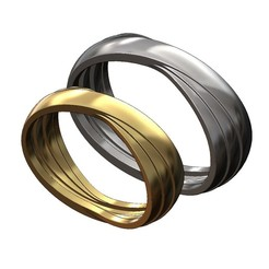 OVERLAPPING-RINGS-BAND-00.JPG Download 3MF file Overlapping bands ring 3D print model • 3D printer object, RachidSW