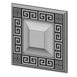 Rosette10-00.JPG Download STL file Greek key ceiling medallion and tile 3D print model • 3D printer model, RachidSW