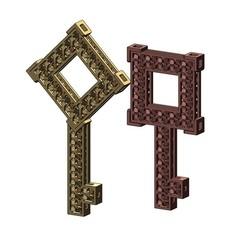 moucha-keys1-00.JPG Télécharger fichier 3MF Pendentifs de clés Moucharabieh Modèle d'impression 3D • Design imprimable en 3D, RachidSW