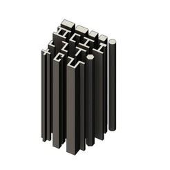 BEAMS-000.JPG Télécharger fichier STL Maquette miniature fabriquant des poutres en acier • Design imprimable en 3D, RachidSW
