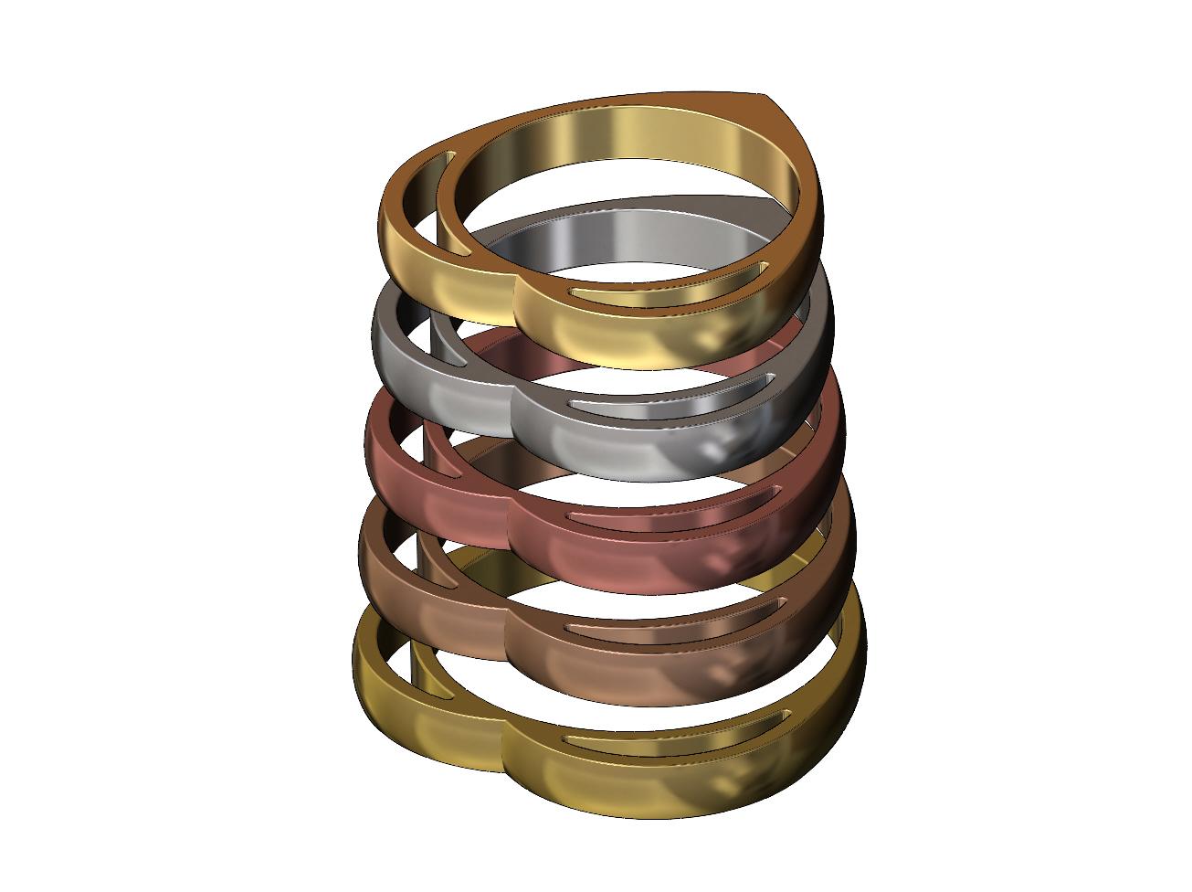 heart-ring-03.JPG Télécharger fichier 3MF Modèle d'impression 3D d'un anneau en forme de cœur • Design pour impression 3D, RachidSW