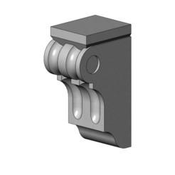 Corinthian Corbels and Bar Brackets-15-00.JPG Download 3MF file Corinthian Style Corbel and Bar Bracket 3D print model • 3D printing template, RachidSW