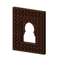Download 3D printing designs Moroccan moucharabieh mirror frame 3D print model, RachidSW