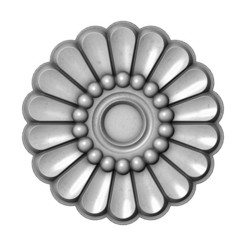 Rosette12-00.JPG Download 3MF file Modern Rosette and Onlay 3D print model • Template to 3D print, RachidSW