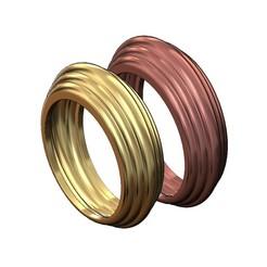 chunky stepped ring v1-00.JPG Télécharger fichier 3MF Modèle d'impression 3D de l'anneau des gros plis • Plan imprimable en 3D, RachidSW