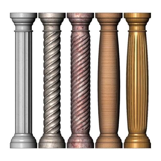 columns-mini-00.JPG Download 3MF file Miniature model making columns 3D print model • 3D printable design, RachidSW
