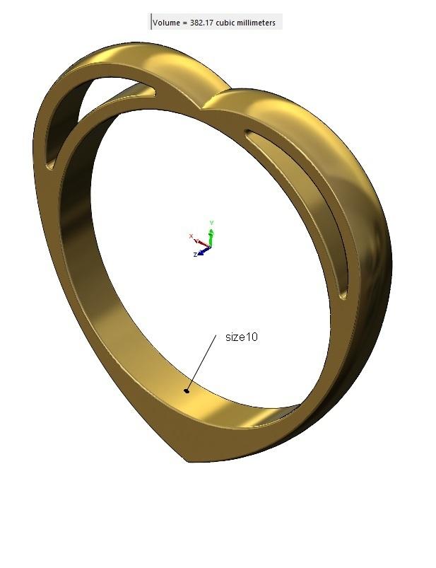 volume2.jpg Télécharger fichier 3MF Modèle d'impression 3D d'un anneau en forme de cœur • Design pour impression 3D, RachidSW