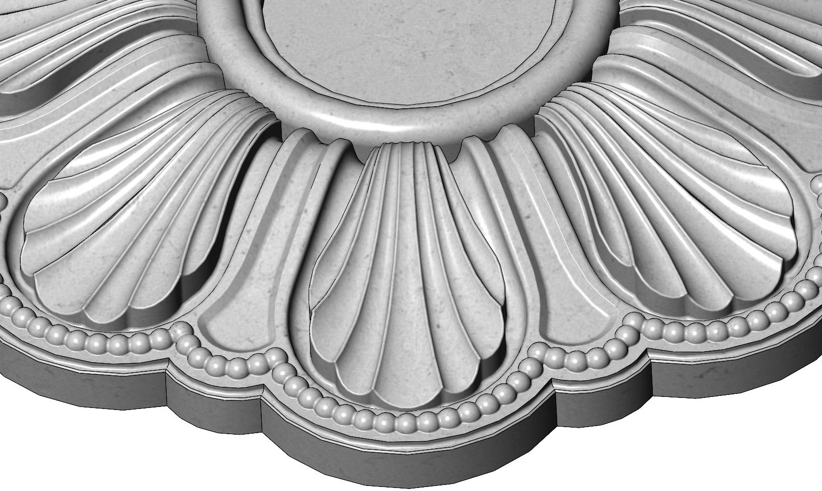 rosette5-1-08.JPG Download 3MF file Rosette plaster molding N01 3D print model • 3D printable model, RachidSW