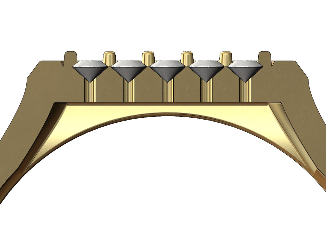 Hexa-signet-pavé-08.JPG Download 3MF file Hexagonal slot low profile signet ring 3D print model • 3D printable model, RachidSW