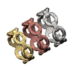 Twisted-chain-link-ring-00.JPG Télécharger fichier 3MF Modèle d'impression 3D d'un anneau à maillons de chaîne en fil de fer torsadé • Design pour imprimante 3D, RachidSW