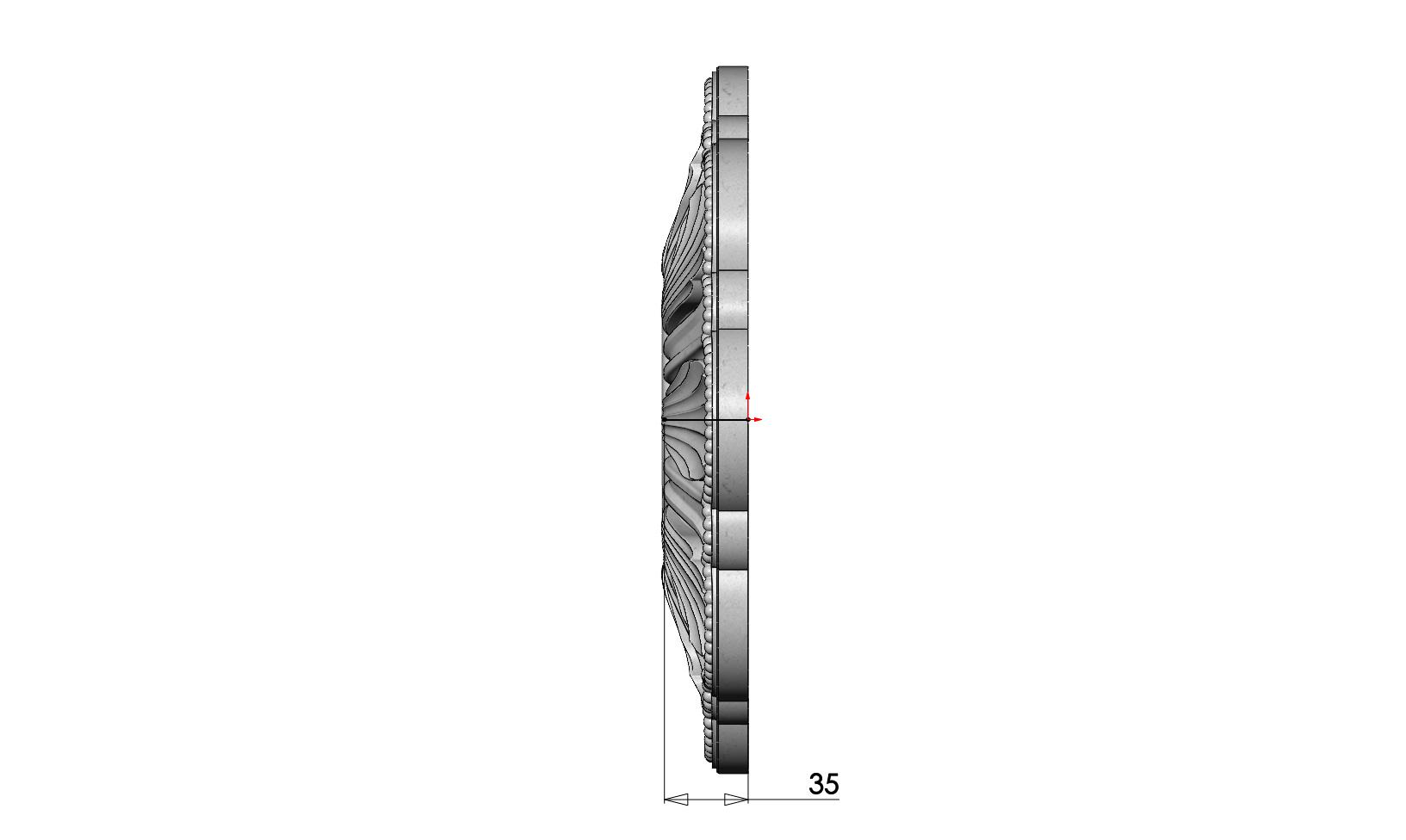 rosette5-1-05.JPG Download 3MF file Rosette plaster molding N01 3D print model • 3D printable model, RachidSW