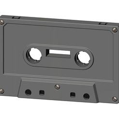Download STL file Cassette Tape replica 3D print model, RachidSW