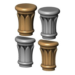 Capital2-00.JPG Download 3MF file Simple Rose Leaves Column Capital 3D print model • 3D printable design, RachidSW