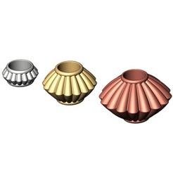 Saucer-Bead-00.JPG Télécharger fichier 3MF Corrugated Saucer Beads and Charms 3D print model  • Plan pour impression 3D, RachidSW
