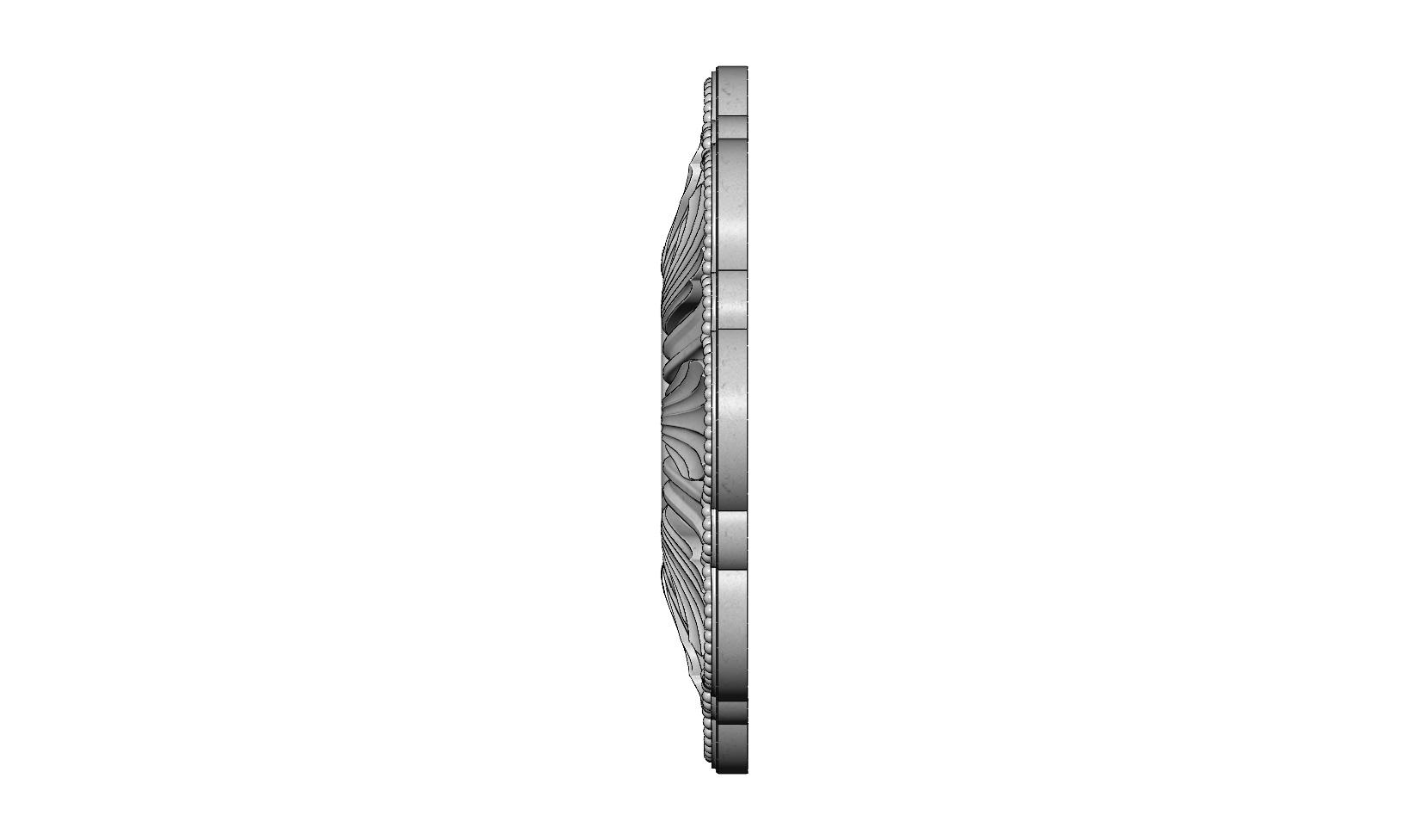 rosette5-1-02.JPG Download 3MF file Rosette plaster molding N01 3D print model • 3D printable model, RachidSW