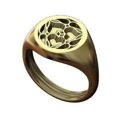 ROUND-S-Gothic1-000.JPG Download 3MF file Round signet ring with gothic ornament N01 3D print model • 3D print model, RachidSW