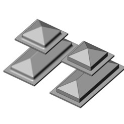 skylights-00.JPG Download STL file Miniature skylight prop for model making • 3D printing object, RachidSW