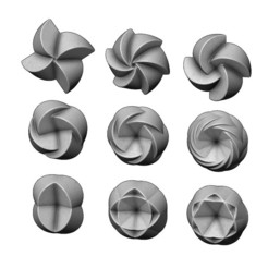 Rose-pattern2-01.JPG Download STL file 3d Geometrical pattern rosettes N02 3D print model • 3D printable model, RachidSW