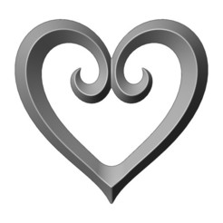 Onlay22-00.JPG Download 3MF file Heart shaped decoration element relief 3D print model • Object to 3D print, RachidSW
