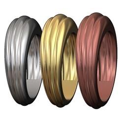 3-DOME-RING-V2-00.JPG Télécharger fichier 3MF Modèle d'impression 3D de l'anneau ondulé à 3 dômes • Objet à imprimer en 3D, RachidSW