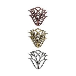 Download STL files Mehndi flower design pendant earring 3D print model, RachidSW