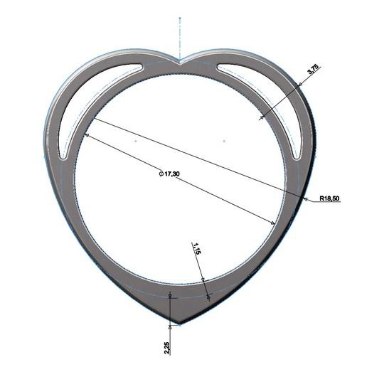 heart-ring-04.JPG Télécharger fichier 3MF Modèle d'impression 3D d'un anneau en forme de cœur • Design pour impression 3D, RachidSW