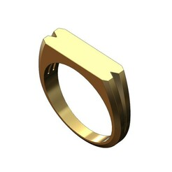 Split-shank-rectangular-signet-00.JPG Download 3MF file Split shank rectangular tag signet ring 3D print model • 3D printing template, RachidSW