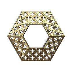 hexa-mouch-01.JPG Télécharger fichier 3MF Pendentif moucharabieh hexagonal en or • Modèle pour impression 3D, RachidSW