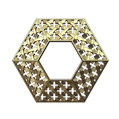 Télécharger fichier STL Pendentif moucharabieh hexagonal en or, RachidSW